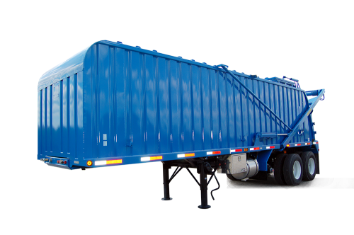 recycling trailer, Onken trailer, WVO trailer, used cooking oil trailer, rendering trailer, food waste trailer, organic recycling trailer
