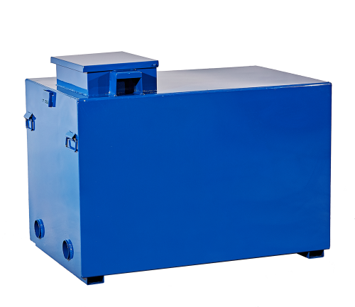 300 gallon enclosed grease container, enclosed grease container, theft deterrent grease container, lockable grease container, heated grease tank